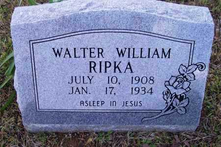 RIPKA, WALTER WILLIAM - Lawrence County, Arkansas | WALTER WILLIAM RIPKA - Arkansas Gravestone Photos