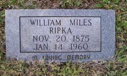 RIPKA, WILLIAM MILES - Lawrence County, Arkansas | WILLIAM MILES RIPKA - Arkansas Gravestone Photos