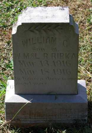 RIPKA, WILLIAM C. - Lawrence County, Arkansas | WILLIAM C. RIPKA - Arkansas Gravestone Photos