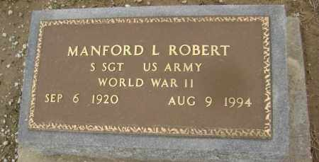 ROBERT  (VETERAN WWII), MANFORD LOUIS - Lawrence County, Arkansas | MANFORD LOUIS ROBERT  (VETERAN WWII) - Arkansas Gravestone Photos