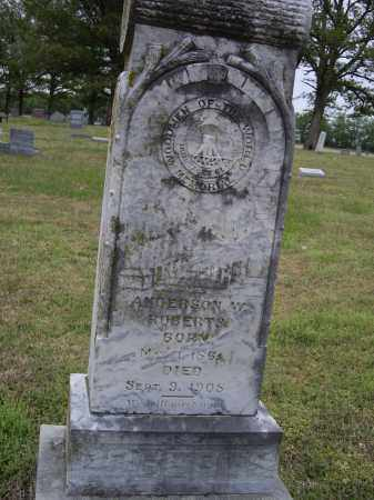 ROBERTS, ANDERSON W. - Lawrence County, Arkansas | ANDERSON W. ROBERTS - Arkansas Gravestone Photos