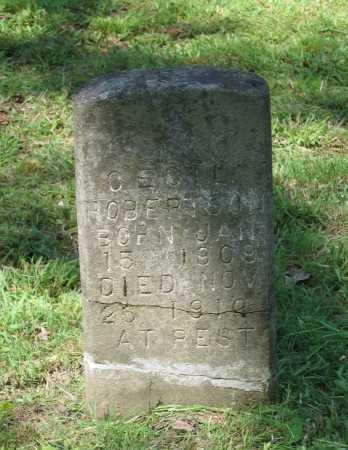 ROBERTSON, CECIL - Lawrence County, Arkansas   CECIL ROBERTSON - Arkansas Gravestone Photos