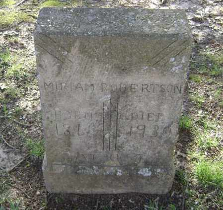 WOODS ROBERTSON, MIRIAM MARY P. - Lawrence County, Arkansas | MIRIAM MARY P. WOODS ROBERTSON - Arkansas Gravestone Photos