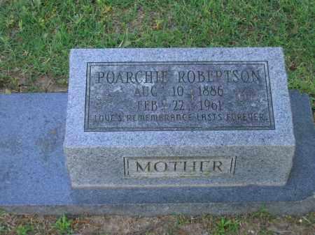 ROBERTSON, POARCHIE - Lawrence County, Arkansas | POARCHIE ROBERTSON - Arkansas Gravestone Photos
