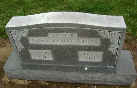WOOLEY ROBINS, AGNES - Lawrence County, Arkansas | AGNES WOOLEY ROBINS - Arkansas Gravestone Photos