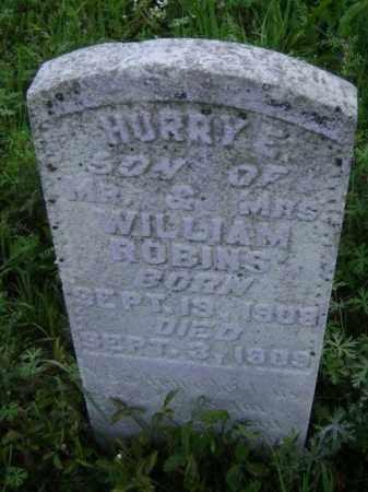 ROBINS, HURRY E. - Lawrence County, Arkansas | HURRY E. ROBINS - Arkansas Gravestone Photos