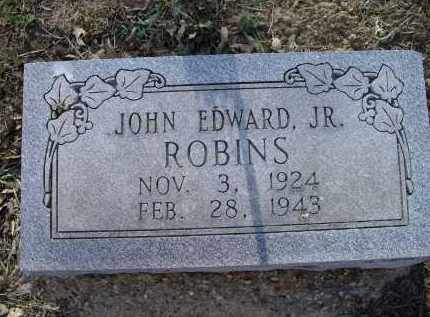 ROBINS, JR., JOHN EDWARD - Lawrence County, Arkansas   JOHN EDWARD ROBINS, JR. - Arkansas Gravestone Photos