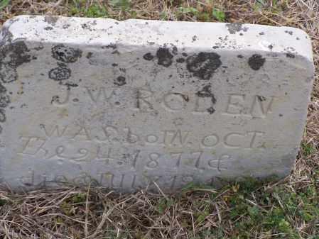 RODEN, J. W. - Lawrence County, Arkansas | J. W. RODEN - Arkansas Gravestone Photos