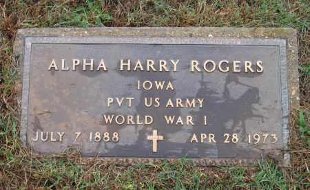 ROGERS (VETERAN WWI), ALPHA HARRY - Lawrence County, Arkansas   ALPHA HARRY ROGERS (VETERAN WWI) - Arkansas Gravestone Photos
