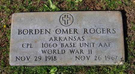 ROGERS (VETERAN WWII), BORDEN OMER - Lawrence County, Arkansas | BORDEN OMER ROGERS (VETERAN WWII) - Arkansas Gravestone Photos