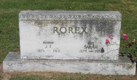ROREX, J. F. - Lawrence County, Arkansas | J. F. ROREX - Arkansas Gravestone Photos