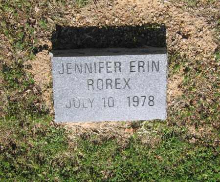 ROREX, JENNIFER ERIN - Lawrence County, Arkansas | JENNIFER ERIN ROREX - Arkansas Gravestone Photos
