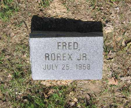 ROREX, JR., FRED - Lawrence County, Arkansas | FRED ROREX, JR. - Arkansas Gravestone Photos