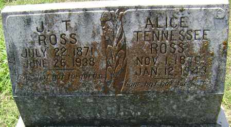 ROSS, ALICE TENNESSEE - Lawrence County, Arkansas | ALICE TENNESSEE ROSS - Arkansas Gravestone Photos