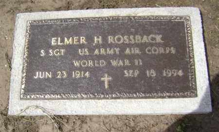 ROSSBACK  (VETERAN WWII), ELMER H. - Lawrence County, Arkansas | ELMER H. ROSSBACK  (VETERAN WWII) - Arkansas Gravestone Photos
