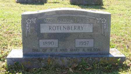 ROTENBERRY, MARY ALABAMA - Lawrence County, Arkansas | MARY ALABAMA ROTENBERRY - Arkansas Gravestone Photos