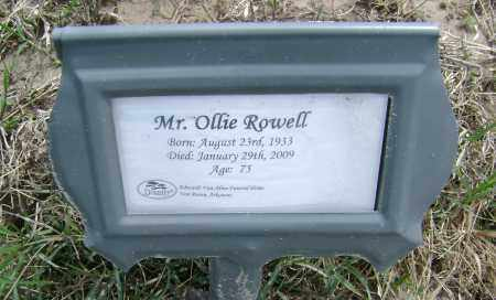 ROWELL (VETERAN), OLLIE - Lawrence County, Arkansas | OLLIE ROWELL (VETERAN) - Arkansas Gravestone Photos