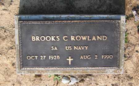ROWLAND (VETERAN), BROOKS CLIFFORD - Lawrence County, Arkansas | BROOKS CLIFFORD ROWLAND (VETERAN) - Arkansas Gravestone Photos