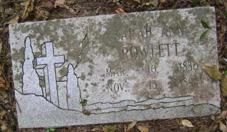 PINNELL ROWLETT, SARAH ANN - Lawrence County, Arkansas   SARAH ANN PINNELL ROWLETT - Arkansas Gravestone Photos