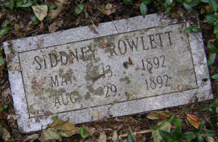 ROWLETT, SIDDNEY - Lawrence County, Arkansas | SIDDNEY ROWLETT - Arkansas Gravestone Photos