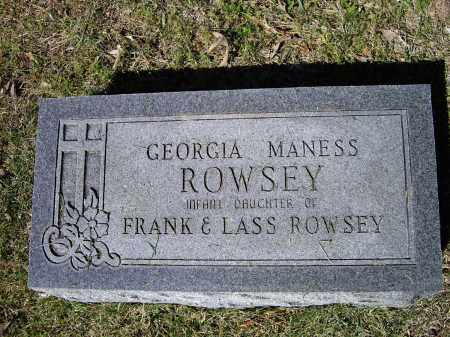 ROWSEY, GEORGIA MANESS - Lawrence County, Arkansas | GEORGIA MANESS ROWSEY - Arkansas Gravestone Photos