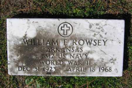ROWSEY (VETERAN WWII), WILLIAM FRANCIS - Lawrence County, Arkansas | WILLIAM FRANCIS ROWSEY (VETERAN WWII) - Arkansas Gravestone Photos