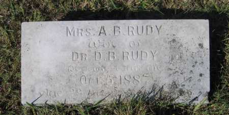 "RUDY, ANNA BELL ""BILLIE"" - Lawrence County, Arkansas 