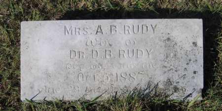 "HENDERSON RUDY, ANNA BELL ""BILLIE"" - Lawrence County, Arkansas | ANNA BELL ""BILLIE"" HENDERSON RUDY - Arkansas Gravestone Photos"