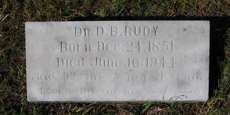 """RUDY, MD, DIONYSIOUS BODINE """"D. B."""" - Lawrence County, Arkansas 
