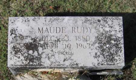 RUDY, LAURA MAUDE - Lawrence County, Arkansas | LAURA MAUDE RUDY - Arkansas Gravestone Photos