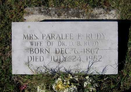 RUDY, PARALEE - Lawrence County, Arkansas | PARALEE RUDY - Arkansas Gravestone Photos