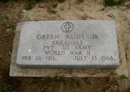 RUSH,  JR (VETERAN WWII), GREEN - Lawrence County, Arkansas | GREEN RUSH,  JR (VETERAN WWII) - Arkansas Gravestone Photos