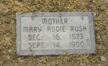 RUSH, MARY ADDIE - Lawrence County, Arkansas   MARY ADDIE RUSH - Arkansas Gravestone Photos