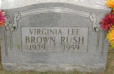 RUSH, VIRGINIA LEE - Lawrence County, Arkansas | VIRGINIA LEE RUSH - Arkansas Gravestone Photos