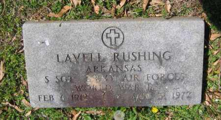 RUSHING (VETERAN WWII), LAVELLE - Lawrence County, Arkansas   LAVELLE RUSHING (VETERAN WWII) - Arkansas Gravestone Photos