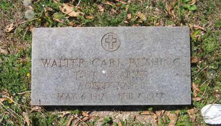 RUSHING (VETERAN WWII), WALTER CARL - Lawrence County, Arkansas | WALTER CARL RUSHING (VETERAN WWII) - Arkansas Gravestone Photos
