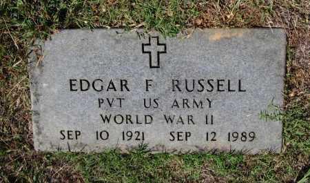 RUSSELL (VETERAN WWII), EDGAR FILMORE - Lawrence County, Arkansas   EDGAR FILMORE RUSSELL (VETERAN WWII) - Arkansas Gravestone Photos