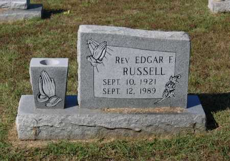 RUSSELL, REV., EDGAR FILMORE - Lawrence County, Arkansas | EDGAR FILMORE RUSSELL, REV. - Arkansas Gravestone Photos