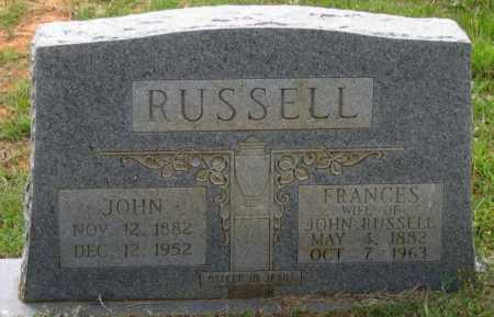RUSSELL, SARAH FRANCES - Lawrence County, Arkansas | SARAH FRANCES RUSSELL - Arkansas Gravestone Photos