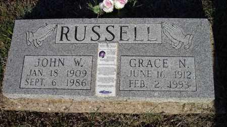 RUSSELL, JOHN WILLIAM - Lawrence County, Arkansas | JOHN WILLIAM RUSSELL - Arkansas Gravestone Photos