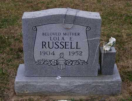 BROWN RUSSELL, LOLA ELSIE - Lawrence County, Arkansas | LOLA ELSIE BROWN RUSSELL - Arkansas Gravestone Photos