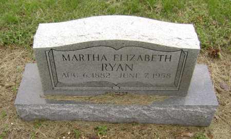 RYAN, MARTHA ELIZABETH - Lawrence County, Arkansas   MARTHA ELIZABETH RYAN - Arkansas Gravestone Photos