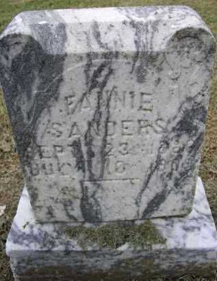 SANDERS, FANNIE - Lawrence County, Arkansas | FANNIE SANDERS - Arkansas Gravestone Photos