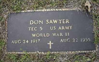 SAWYER (VETERAN WWII), DON - Lawrence County, Arkansas | DON SAWYER (VETERAN WWII) - Arkansas Gravestone Photos