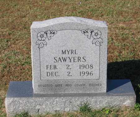 GOODWIN SAWYERS, MYRL - Lawrence County, Arkansas   MYRL GOODWIN SAWYERS - Arkansas Gravestone Photos