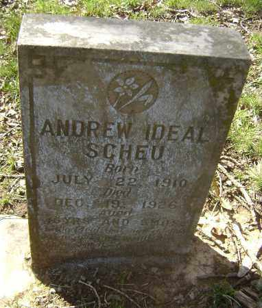SCHEU, ANDREW IDEAL - Lawrence County, Arkansas | ANDREW IDEAL SCHEU - Arkansas Gravestone Photos