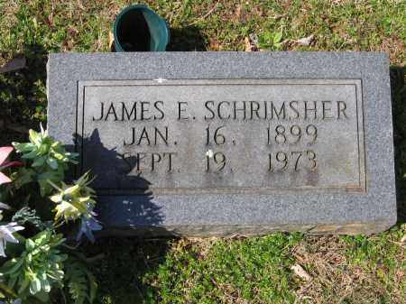 SCHRIMSHER, JAMES EDGAR - Lawrence County, Arkansas   JAMES EDGAR SCHRIMSHER - Arkansas Gravestone Photos