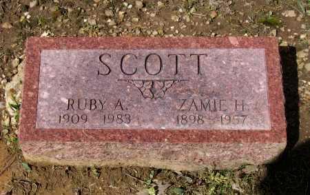 MONTGOMERY SCOTT, RUBY ALICE - Lawrence County, Arkansas | RUBY ALICE MONTGOMERY SCOTT - Arkansas Gravestone Photos
