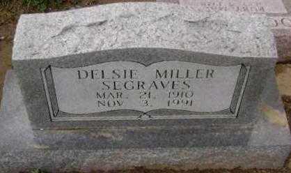 MILLER SEGRAVES, DELSIE - Lawrence County, Arkansas | DELSIE MILLER SEGRAVES - Arkansas Gravestone Photos