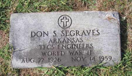 SEGRAVES (VETERAN WWII), DON SEVIER - Lawrence County, Arkansas | DON SEVIER SEGRAVES (VETERAN WWII) - Arkansas Gravestone Photos